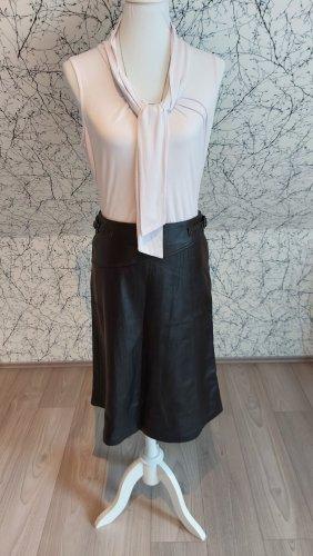 HANAMI Leather Skirt black
