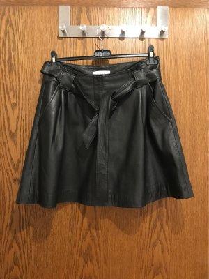 Just Female Falda de cuero negro Cuero