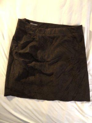 Marc O'Polo Skórzana spódnica ciemnobrązowy