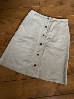 ottod'Ame Leather Skirt beige-cream