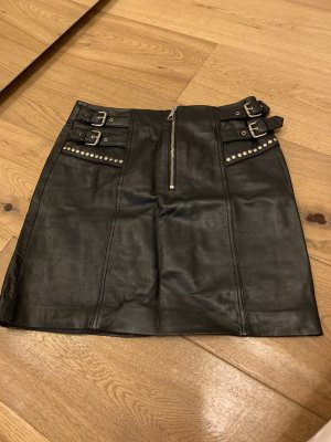 Set Leather Skirt black