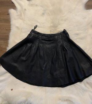 Tigha Falda de cuero negro
