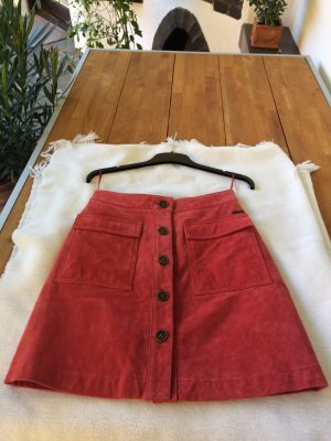 Pepe Jeans Leather Skirt multicolored suede