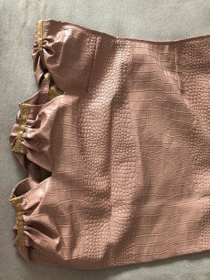 SheIn Gonna in ecopelle color oro rosa