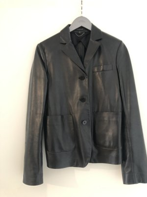 Strenesse Leather Blazer black leather
