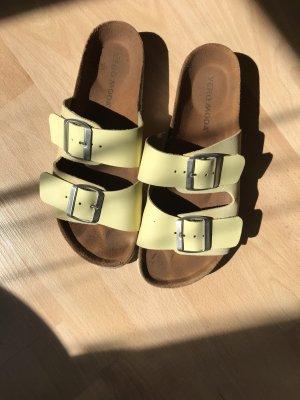 Vero Moda Sandales confort jaune clair-jaune primevère