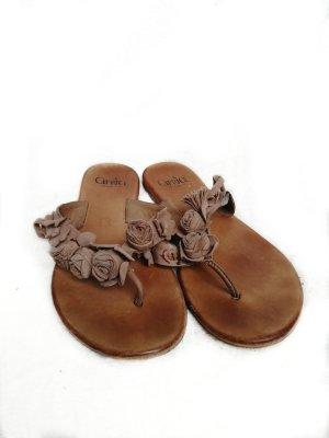 Caprice Sandalo toe-post marrone chiaro-marrone
