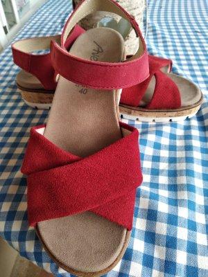 Arena Sandales confort rouge brique-rouge carmin