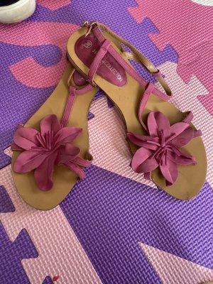 3 Suisses Sandały z rzemykami różowy