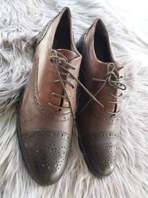 Maripé Zapatos Budapest marrón-marrón oscuro