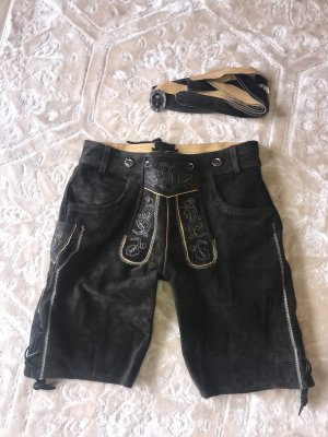 Traditional Leather Trousers black-brown