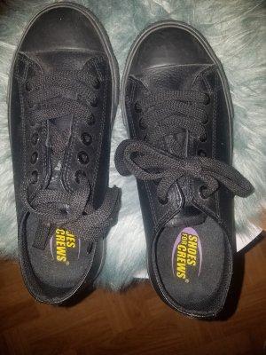 Sneaker stringata nero Pelle