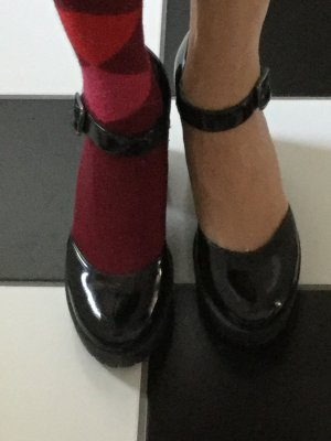 Zapatos Mary Jane negro Cuero
