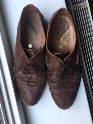 Wingtip Shoes cognac-coloured-brown leather
