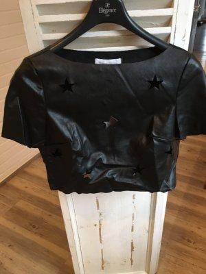 Ledershirt Bluse Top schwarz Gr. M von findersKeepers