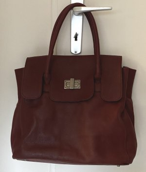 Aridza Bross Shopper violet cuir
