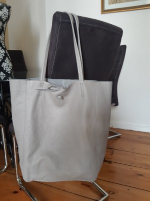 Made in Italy Shopper gris-gris clair
