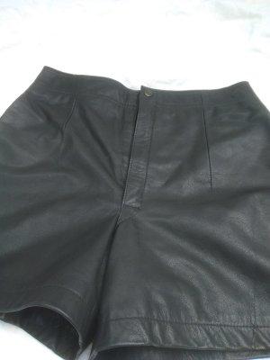 Hot pants zwart Leer