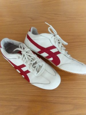TCM Lace-Up Sneaker white-red leather
