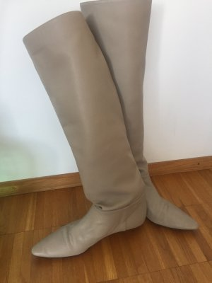 Zara Slouch Boots light grey