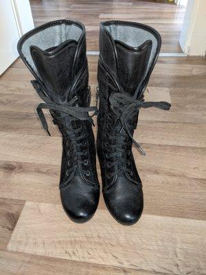 MARC art of walking Laarzen met hak zwart-zilver