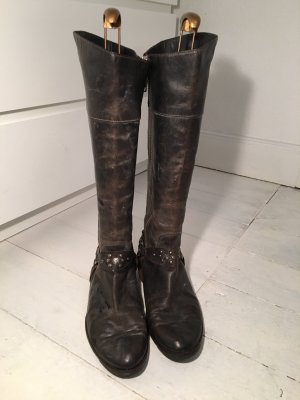 Moma Riding Boots anthracite leather