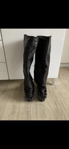 G.K.M. Platform Boots black leather