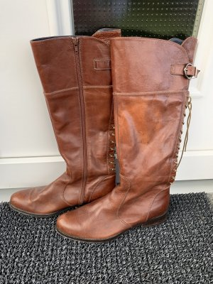Platform Boots brown-cognac-coloured