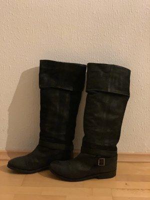 Görtz Shoes Stivale militare nero Pelle
