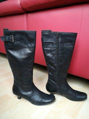 Tamaris Bottes à talon noir cuir