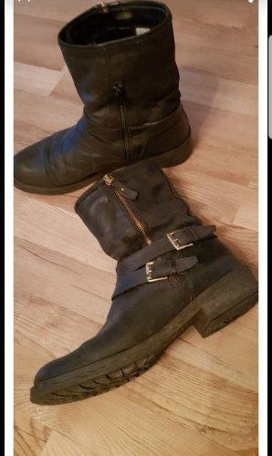 Lederstiefel Biker Boots