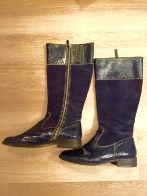 Boden Jackboots blue leather