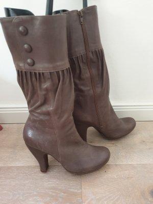 Chie Mihara Platform Boots grey brown
