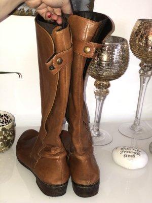 Stivale elasticizzato cognac-marrone