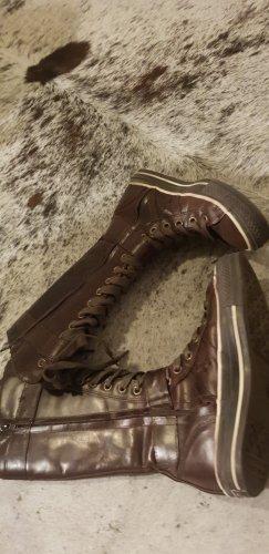 Converse Stivale stringato marrone scuro Pelle