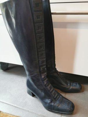 aus Italien Laarzen met hak donkerblauw