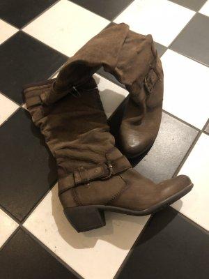 Boots western brun foncé
