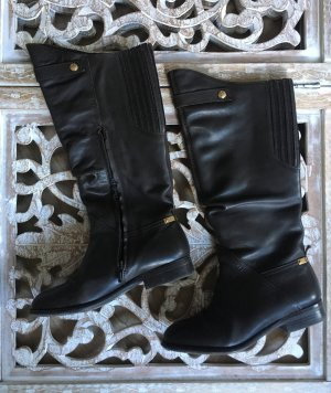 Geox Riding Boots black brown-brown leather