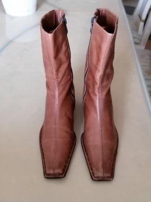 Pat Calvin Heel Boots cognac-coloured