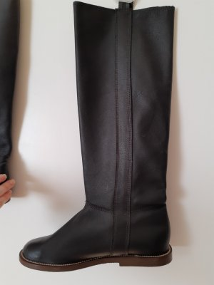Ocieplane buty czarny Skóra
