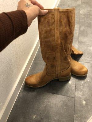 Ovyé Botas estilo vaquero beige