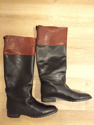 BALLY SUISSE Jackboots black-brown leather