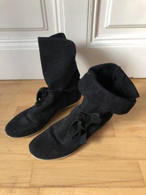 Lederstiefel schwarz