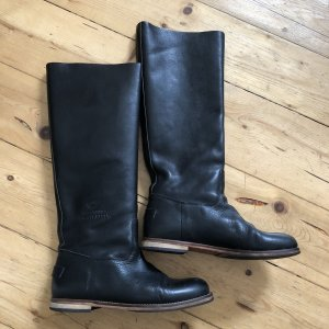 Shabbies amsterdam Riding Boots black leather