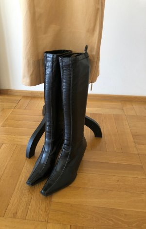 Paul Green Stretch Boots black leather