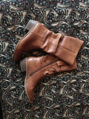 SPM Shoes & Boots Bottes plissées multicolore cuir