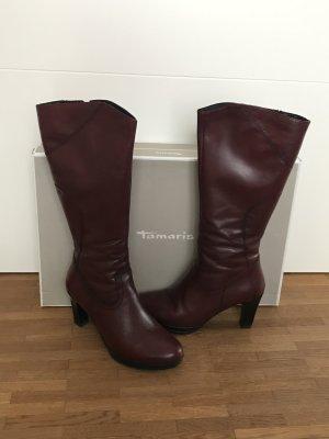 Tamaris Platform Boots carmine