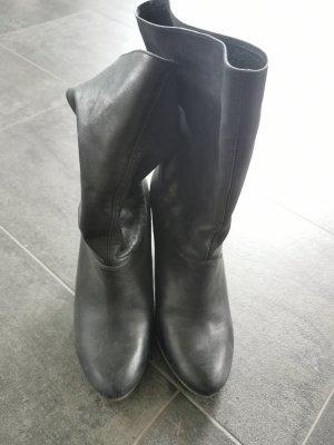 Tergan Wysokie buty na obcasie czarny