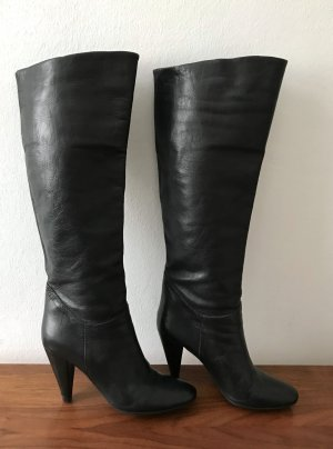 Fornarina Wide Calf Boots black leather