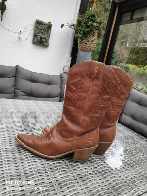 Dockers Botas estilo vaquero marrón